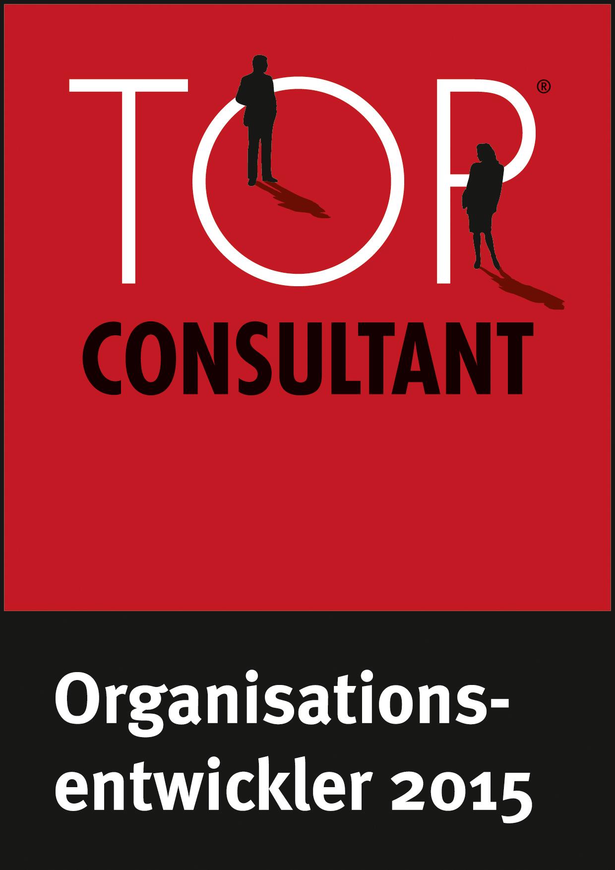 Top Consultant - Auszeichnung als Organisationsentwickler 2015