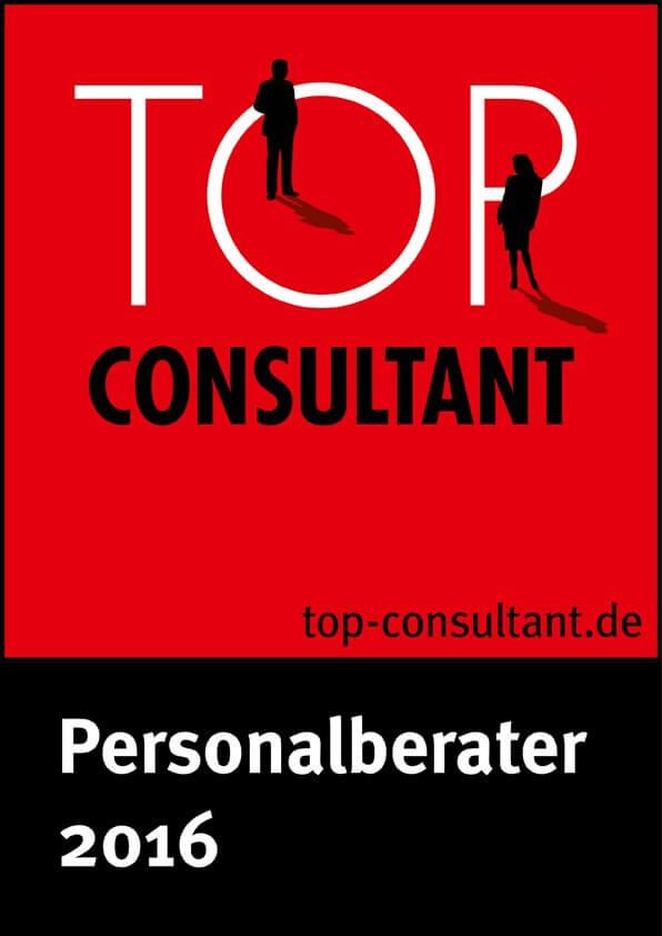 Top Consultant - Auszeichnung als Organisationsentwickler 2016