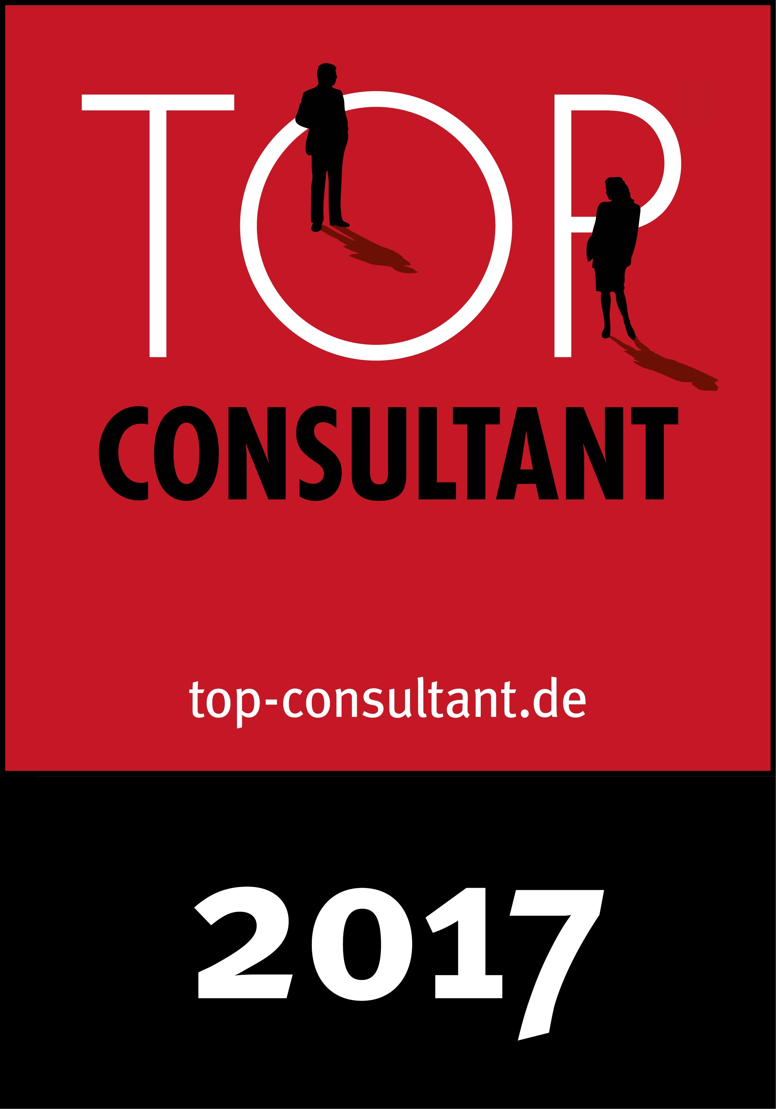 Top Consultant - Auszeichnung als Organisationsentwickler 2017