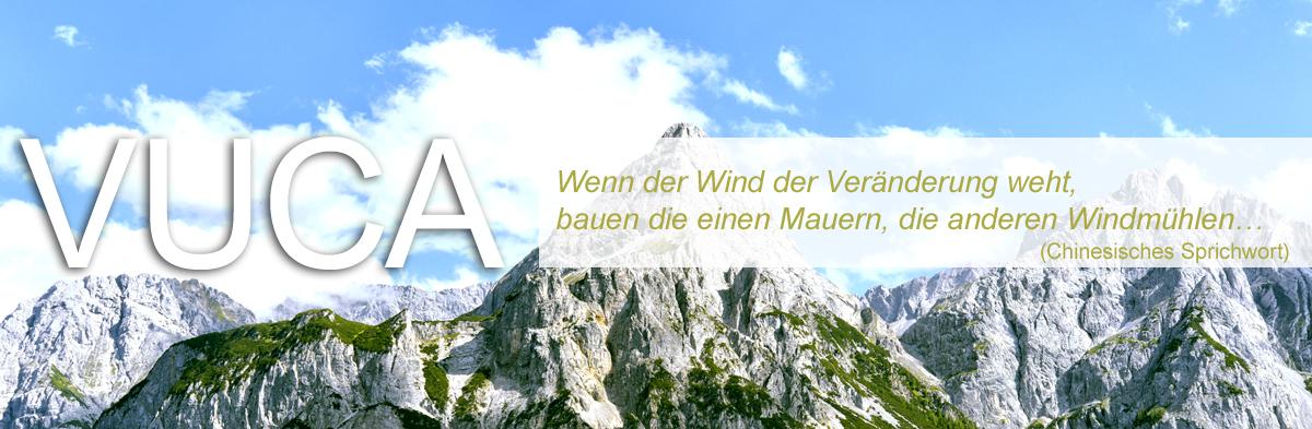 Wenn der Wind der Veränderung weht, bauen die einen Mauern, die anderen Windmühlen...